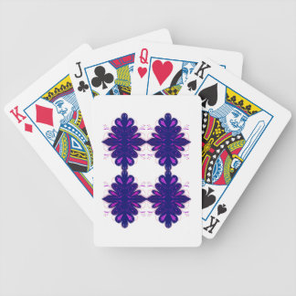 Purple white Ornaments Bicycle Playing Cards