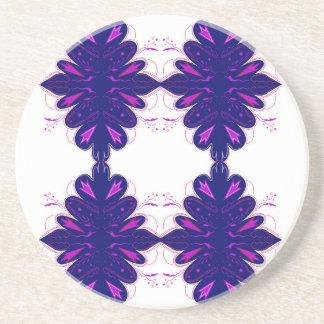 Purple white Ornaments Coaster