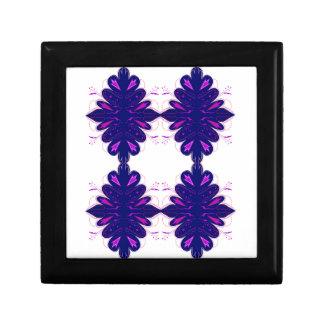 Purple white Ornaments Gift Box