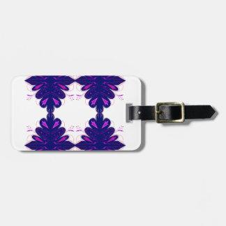 Purple white Ornaments Luggage Tag