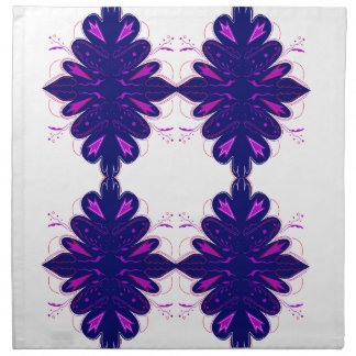 Purple white Ornaments Napkin