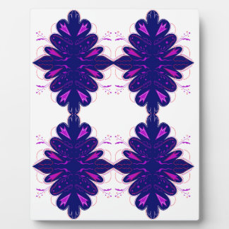 Purple white Ornaments Plaque