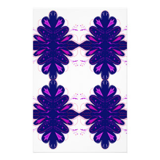Purple white Ornaments Stationery