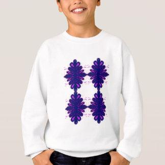 Purple white Ornaments Sweatshirt
