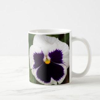 Purple & White Pansy Coffee Mug