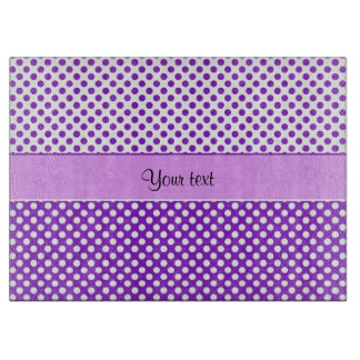 Purple & White Polka Dots Cutting Board