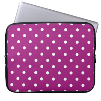 Purple & White Polka Dots, Laptop Storage Sleeve