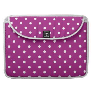 Purple & White Polka Dots Macbook Notebook Sleeve