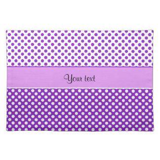 Purple & White Polka Dots Placemat
