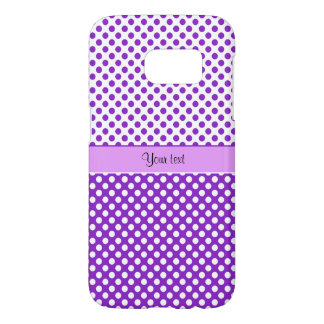Purple & White Polka Dots Samsung Galaxy S7 Case
