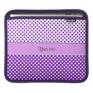 Purple & White Polka Dots Sleeves For iPads