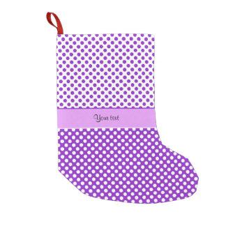 Purple & White Polka Dots Small Christmas Stocking