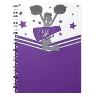 Purple & White Stars Cheer Cheer-leading Notebook