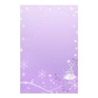 Purple & White Winter Wedding Stationery