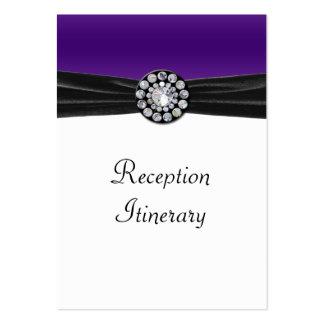 Purple & White With Black Velvet & Diamond Wedding Large Business Card