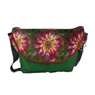 Purple white yellow Dahlia flower Commuter Bags