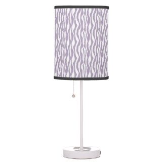 Purple White Zebra Print Pattern Lamp in a Box
