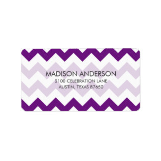 Purple White Zigzag Stripes Chevron Pattern