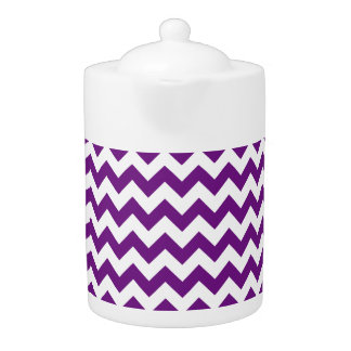 Purple White Zigzag Stripes Chevron Pattern