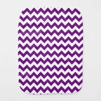 Purple White Zigzag Stripes Chevron Pattern Baby Burp Cloth