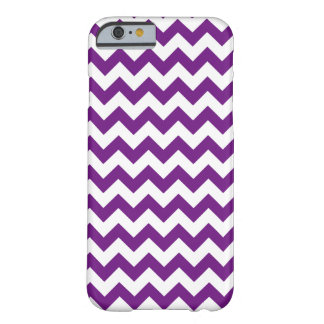 Purple White Zigzag Stripes Chevron Pattern Barely There iPhone 6 Case