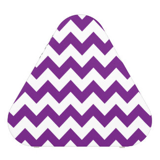 Purple White Zigzag Stripes Chevron Pattern Blueooth Speaker