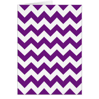Purple White Zigzag Stripes Chevron Pattern Card