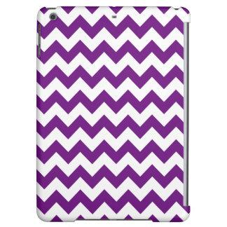 Purple White Zigzag Stripes Chevron Pattern Case For iPad Air