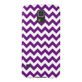 Purple White Zigzag Stripes Chevron Pattern Galaxy S5 Case