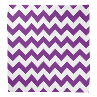 Purple White Zigzag Stripes Chevron Pattern Head Kerchief
