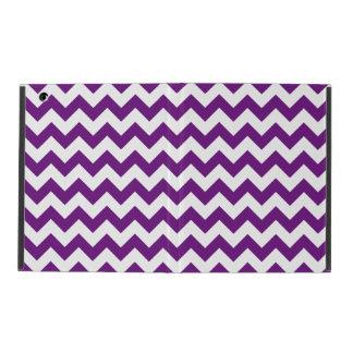 Purple White Zigzag Stripes Chevron Pattern iPad Case