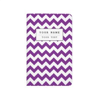 Purple White Zigzag Stripes Chevron Pattern Journal