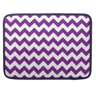 Purple White Zigzag Stripes Chevron Pattern MacBook Pro Sleeves