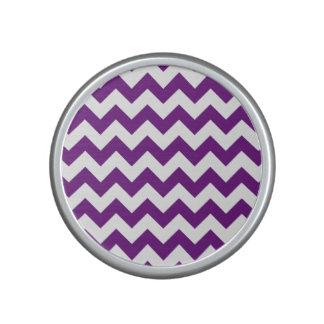 Purple White Zigzag Stripes Chevron Pattern Speaker