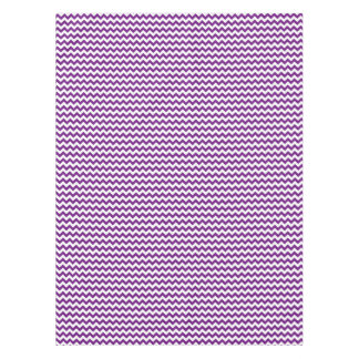 Purple White Zigzag Stripes Chevron Pattern Tablecloth