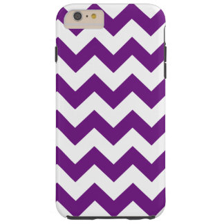 Purple White Zigzag Stripes Chevron Pattern Tough iPhone 6 Plus Case