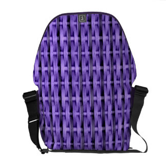 Purple wicker art graphic design courier bags