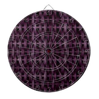 Purple wicker art graphic design dart boards