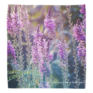 Purple wild flower bandana