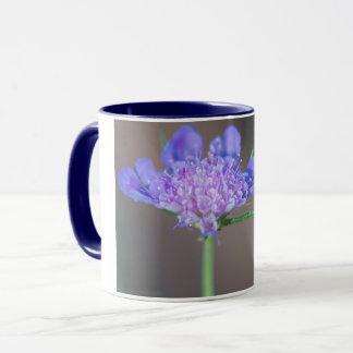 Purple wild flower mug