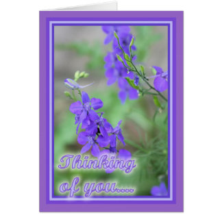 Purple Wild Flowers Card