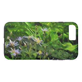 Purple Wildflower Among Charred Forest Abstract iPhone 7 Plus Case
