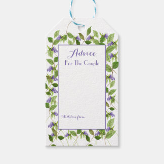 Purple Wildflower Blossoms Green Leaves Advice Tag
