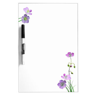 Purple Wildflower Dry Erase Board