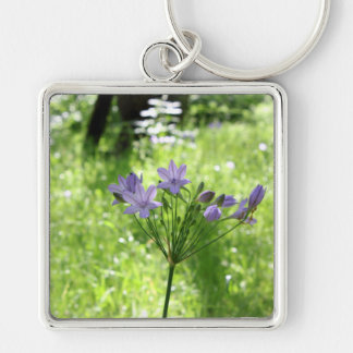 Purple Wildflower Keychain