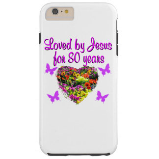 PURPLE WILDFLOWER LOVED BY JESUS FOR 80 YEARS TOUGH iPhone 6 PLUS CASE