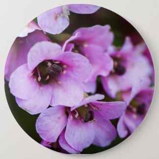 Purple wildflowers 6 inch round button
