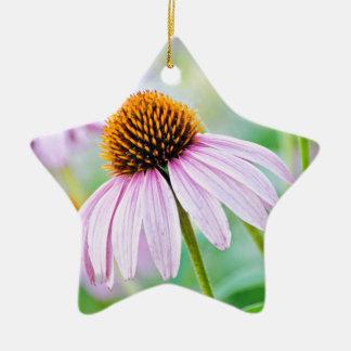 Purple Wildflowers Ceramic Ornament