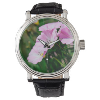 Purple Wildflowers In A Summer Sun Photograph Wristwatches