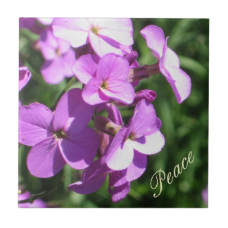 Purple Wildflowers-Peace Tile